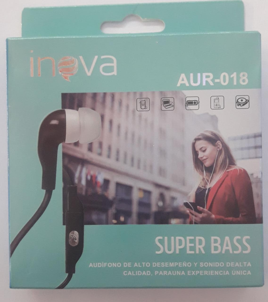 AURICULAR IN EAR INOVA SUPER BASS