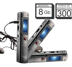 GRABADOR DIGITAL DE VOZ, 8GB.