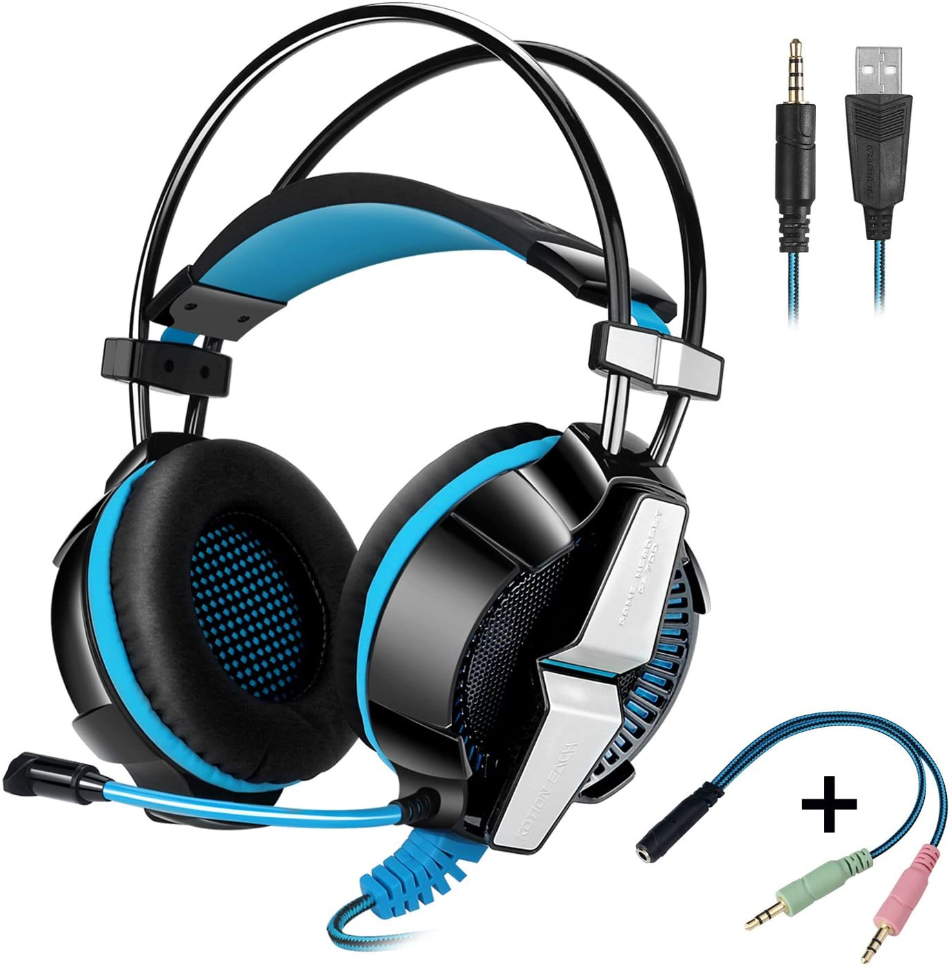 AURICULARES GAMER CON LUZ Y MIC KOTION EACH
