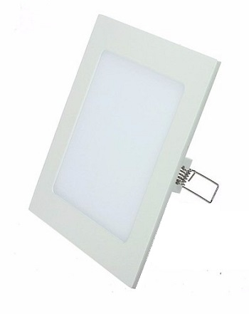 PANEL LED 6W EMBUTIR CUADRADO CALIDO DIAMETRO TOTAL 12CM