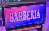 CARTEL BARBERIA LED PLOTEADO 220 VOLTS 48 x 25 CM