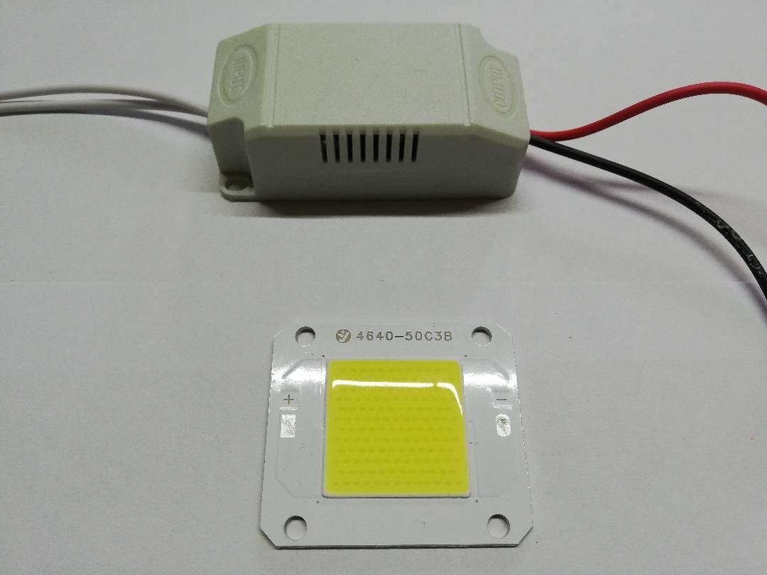 DRIVER + CHIP COB 12V 50W REPUESTO PARA REFLECTOR LED 50W
