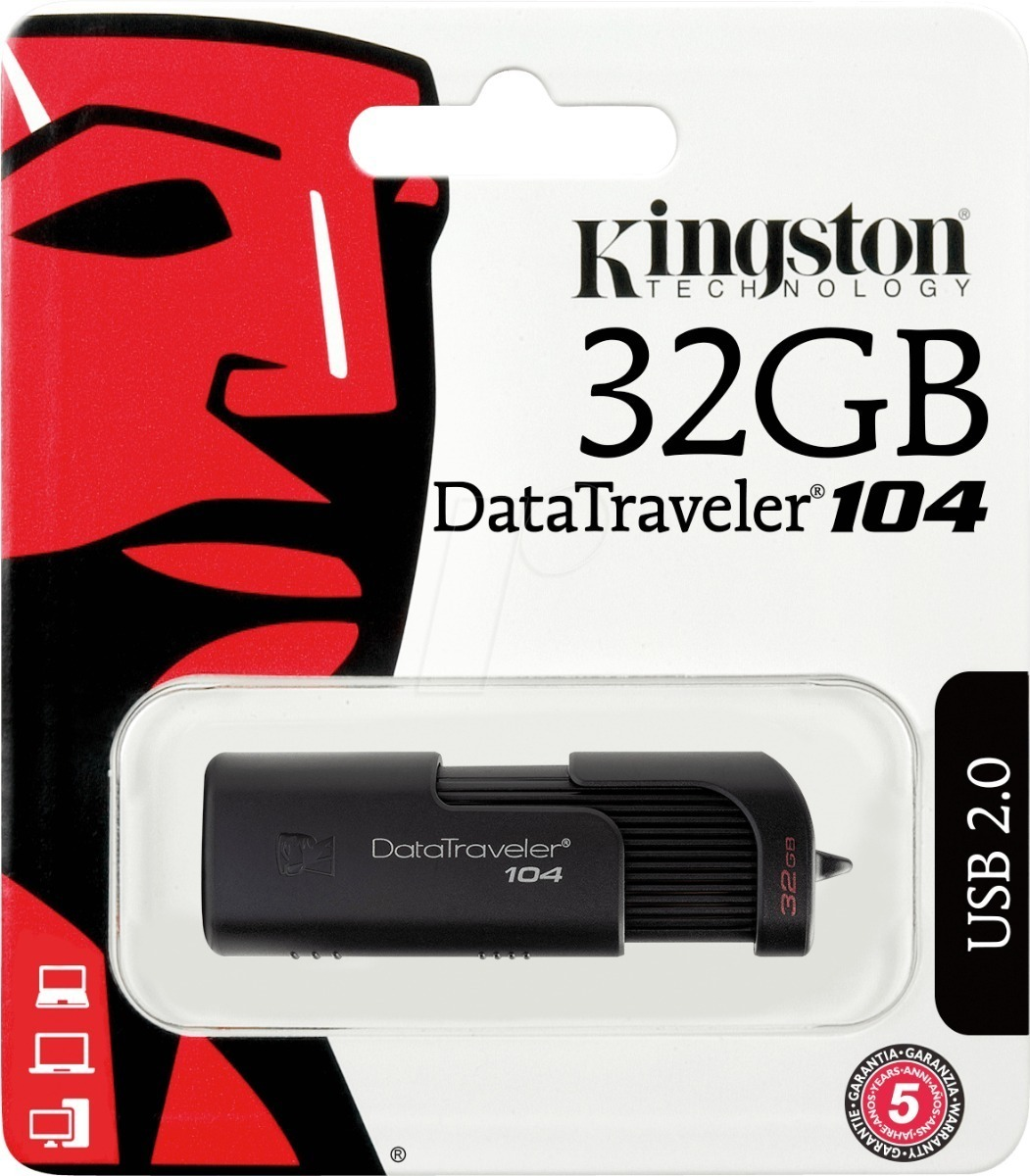 PENDRIVE KINGSTON 32GB DT104