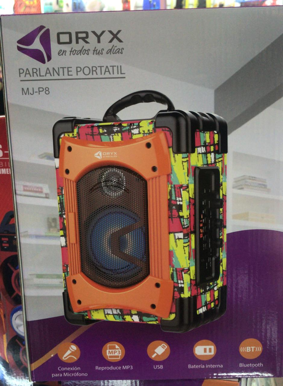 PARLANTE PORTATIL BLUETOOTH USB/SD ORYX MJ-P8