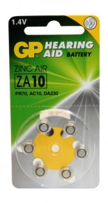 PLS BLISTER X6 PILAS GP-ZA10F ZINC AIR 1.45V